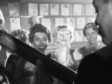 Playwright Lorraine Hansberry Enjoys Music at the Raisin in the Sun Opening Night Party at Sardis, Photographic Print