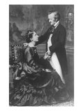 German Composer and Poet Richard Wagner, 1813-1883, with Second Wife Cosima, Giclee Print
