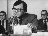 Sen. Daniel Inouye Questioning Witness at Watergate Hearings