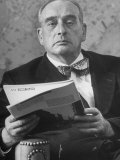 Portrait of Robert Moses, NYC Planner and Builder of Highways, in His Office, Giclee Print