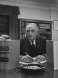 Supreme Court Justice John Marshall Harlan Sitting in His Office, Photographic Print