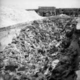 Mass Grave of Exterminated Jews at Concentration Camp, Photographic Print