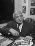 Jazz Musician W. C. Handy Sitting at Desk.Jazz Essay: Set 16266, Photographic Print