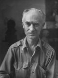 Pulitzer Prize Winning Reporter, Ernie Pyle, Modeling for a Sculptor, Photographic Print