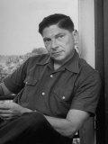 Portrait of Author Arthur Koestler Wearing Sport Shirt, Photographic Print