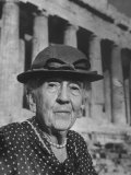 Writer Edith Hamilton Visiting Greek Ruins, Photographic Print