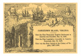 Historical Facts about Jamestown Island, Virginia, Art Print
