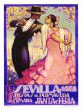 Sevilla, 1928, Fiestas de Primavera, Giclee Print