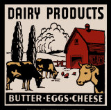 Dairy Products-Butter, Eggs, Cheese Art Print