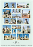 Esculturas, Antonio Gaudi, Art Print