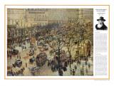 The Impressionists - Camile Pissarro - Boulevard des Italiens, Art Print