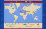 Ancient Civilizations Map and Timeline Wall Poster