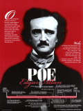 Edgar Allan Poe- American Authors Biographical Timeline Fine Art Print