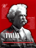 Mark Twain- American Authors Biographical Timeline Fine Art Print