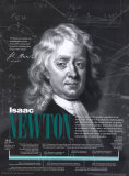 Heroes of Science & Technology - Isaac Newton Wall Poster