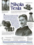 Technology's Past - Nikola Tesla Wall Poster