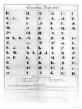 Cherokee Alphabet, from Pendelton's 'Lithography', 1835, Giclee Print