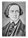 Portrait of Hans Christian Andersen, Giclee Print
