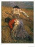 Harvesting, Adolphe Joseph Thomas Monticelli, Giclee Print