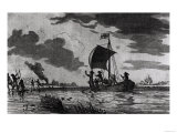 Arrival of the English at Roanoke, 1587, Justin Winsor's Narrative and Critical History of America, Giclee Print
