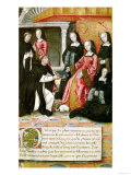 The Author Offering His Book to Anne of Brittany (1477-1514) circa 1505, Giclee Print