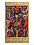 The Ascension of the Prophet Mohammed, Persian Giclee Print