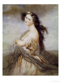 Portrait of Juliette Drouet (1806-83) Giclee Print