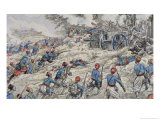 Algerian Riflemen of the French Army Attacking German Guns During the Battle of the Marne in 1918, Giclee Print