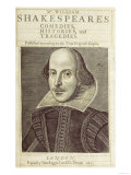 Titlepage of 'Mr. William Shakespeares Comedies, Histories and Tragedies' Giclee Print