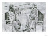 Averroes (1126-98) in Conversation with Porphyry (c.232-c.305) Giclee Print