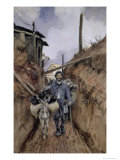 The Donkey, Somme, 1916, Giclee Print