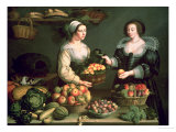 Louise Moillon - The Fruit and Vegetable Seller, Giclee Print