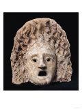 Tragic mask (stone) Giclee Print