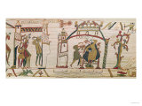 Halley's Comet and Harold Receiving Bad News, detail from the Bayeux Tapestry, Giclee Print