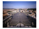 View of the Piazza, the Vatican, 1656-67, Giclee Print