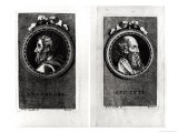 Anaxagorus (500-428 BC) and Epictetus (1st century) engraved by S. Beyssent Giclee Print