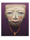 Funeral mask from Teotihuacan (stone, turquoise, obsidian & shell) Giclee Print