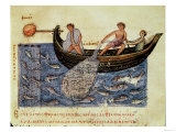 Fishing with a Net, illustration from the Halieutica or Cynegetica by Oppian Giclee Print