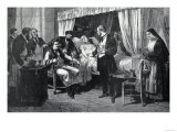 Performing the Operation of the Transfusion of Blood at the Hospital of Pity, Paris, France Giclee Print