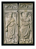 Diptych of Boethius (480-524) Consul in 487 AD (ivory) Giclee Print