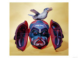 Revelation mask, Kwakiutl People (painted wood) Giclee Print