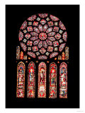 Rose and lancet windows from the north wall, c.1224 (stained glass) Art Print