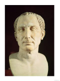 Bust of Julius Caesar (100-44 BC) (marble), Giclee Print