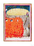 Inferno, Purgatory and Paradise, Illustration from Dante's Divine Comedy, 14th Century (Manuscript), Giclee Print