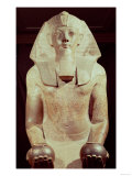 Statue of Queen Makare Hatshepsut (1503-1482 BC) Holding Two Vases Containing Offerings of Wine, Giclee Print