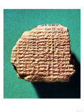 Saturn Ephemeris- Babylonian tablet c.500 BC, Giclee Print