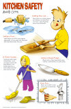 Avoid Cuts in the Kitchen Poster