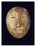 An Eskimo Wood Face Mask from Northern Alaska, Giclee Print