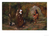 Audrey and Touchstone, 1897, Giclee Print, illustration by Eleanor Fortescue Brickdale, Giclee Print