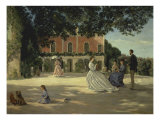 Family Reunion on the Terrace, Giclee Print - Brazille